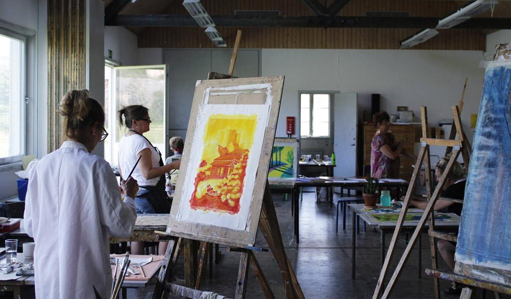 Konstkurs på Gerlesborg